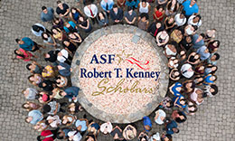 ASF scholars standing in a circle outside